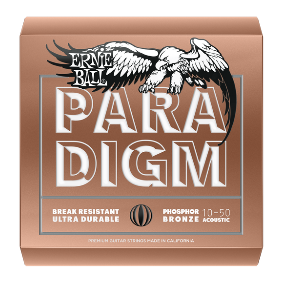 Ernie Ball Paradigm Phosphor Bronze Acoustic Strings Extra Light 10-50