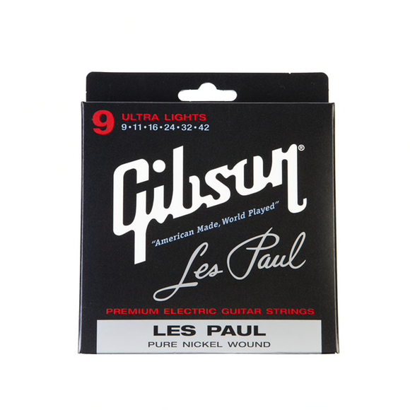 Gibson Les Paul Signature Electric Strings Ultra Lights 9-42