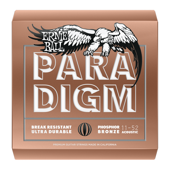 Ernie Ball Paradigm Phosphor Bronze Acoustic Strings Light 11-52