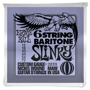 Ernie Ball Baritone Small Ball Slinky 6 String Bass Strings - .013-.072
