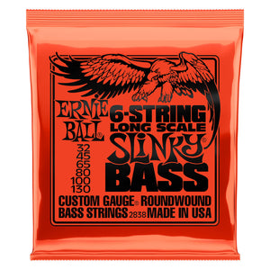 Ernie Ball Bass Strings Long Scale Slinky 6 String  32-130