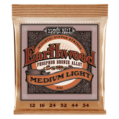Ernie Ball Earthwood Medium Light Phosphor Bronze Acoustic Strings 12-54