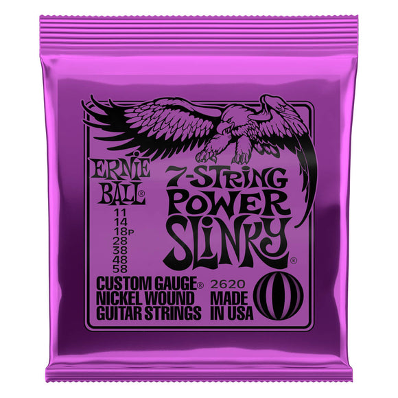 Ernie Ball Nickel Wound 7-String Power Slinky 11-58 Electric Strings