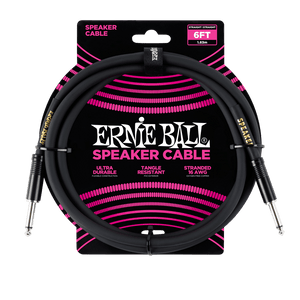Ernie Ball 6' Speaker Cable - Black