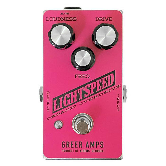 Greer Amps Lightspeed Organic Overdrive Pink/Black