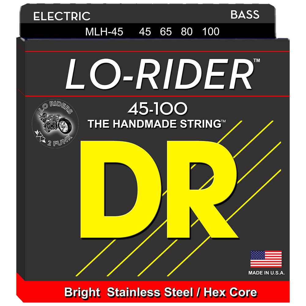 DR Lo-Rider Bass Strings 45-100 Medium-Lite 4-String MLH-45