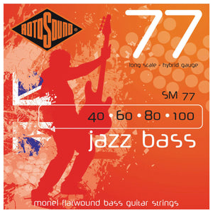 Rotosound SM77 Monel Flatwound Hybrid Bass Strings Set 40-100