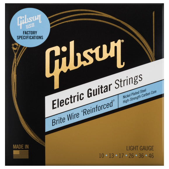 Gibson Brite Wire 'Reinforced' Electric Guitar Strings Light Gauge 10-46