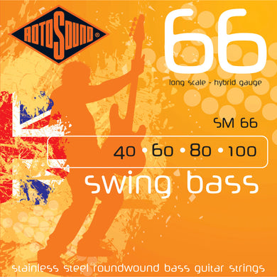 Rotosound SM66 Stainless Steel Bass Strings 40-100