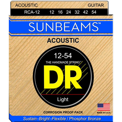 DR RCA-12 Sunbeam Phosphor Bronze Acoustic Strings Lite 12-54