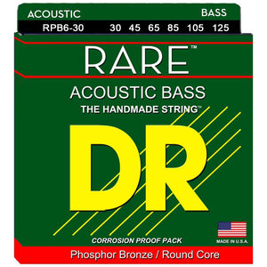 DR Strings Rare RPB6-30 RARE 6-String Acoustic Bass Strings, 30-125
