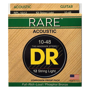 DR Strings RPL-10 RARE Acoustic Strings - Extra Lite, 10-48