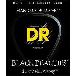 DR BKE-11 Black K3 Coated Electric Strings - Heavy, 11-50