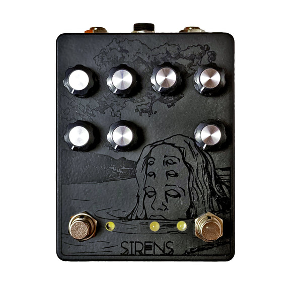 Pine-Box Customs Sirens Chorus / Vibrato / Overdrive Black