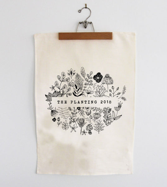 The Planting 2018 Tea Towel