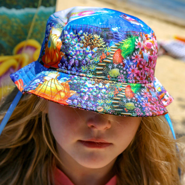 Kids Seascape Bucket Hat