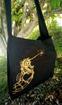 Black Calico Tote Bag