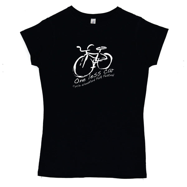 Ladies  One Less Car T-Shirt - Blue