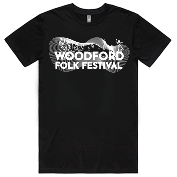 Black Woodford Folk Festival T-Shirt