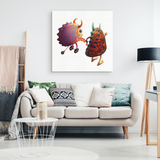 Woodfordia Critters: Sunfish & Nudibranch Canvas