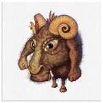 Woodfordia Critters: Goat Canvas