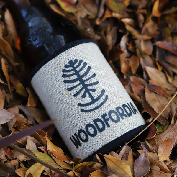 Woodfordia Hessian Stubby Cooler