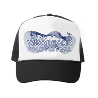 Woodford Folk Festival White and Black Trucker Cap