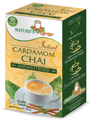 Nature's Guru Cardamom Chai Unsweetened - 10 CT Box