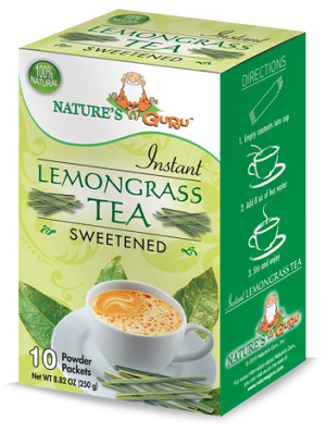 Nature's Guru Lemongrass Chai Sweetened - 10 CT Box