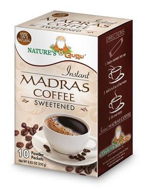 Nature's Guru Madras Coffee Sweetened - 10 CT Box