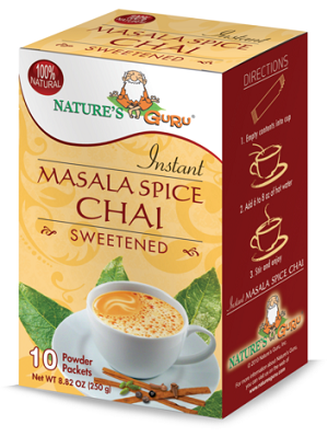 Nature's Guru Masala Spice Chai Sweetened - 10 CT Box