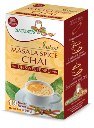 Nature's Guru Masala Spice Chai Unsweetened - 10 CT Box