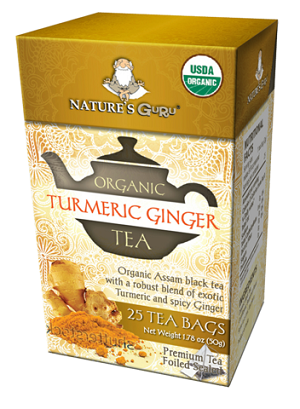 Organic Turmeric Ginger Pyramid Tea Bags - 25 CT Box