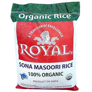 Royal Organic Sona Masoori Rice 20 lb
