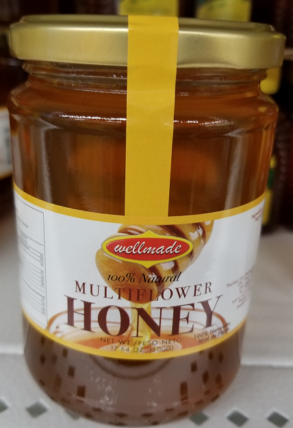 Wellmade Multiflower Honey 17.64 Oz