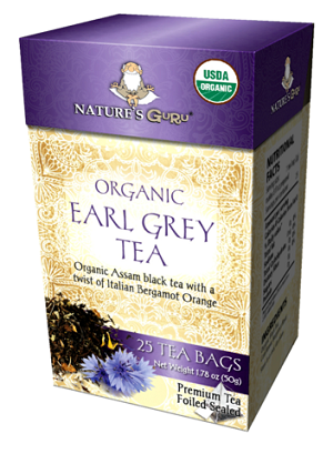 Organic Earl Gray Pyramid Tea Bags - 25 CT Box