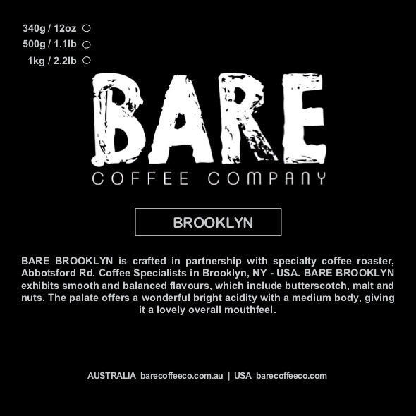 ABBOTSFORD ROAD COFFEE SPECIALISTS | BARE BROOKLYN BLEND (USA ONLY)
