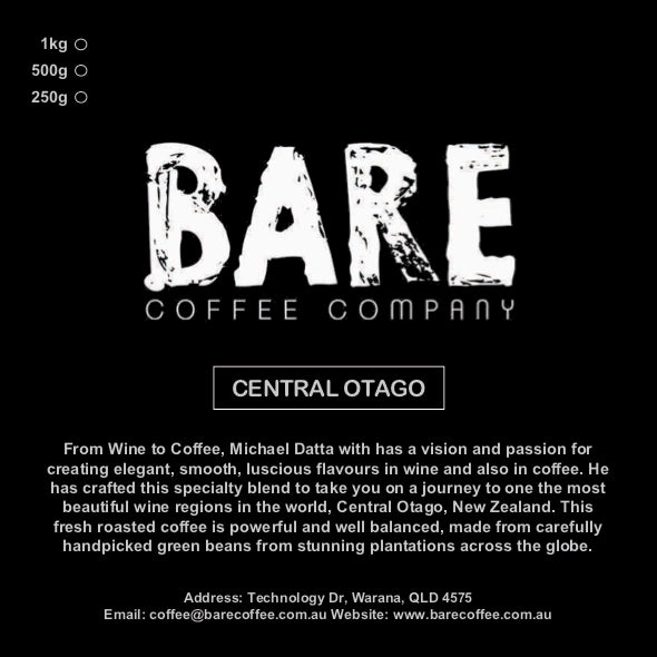 BARE COFFEE CENTRAL OTAGO BLEND
