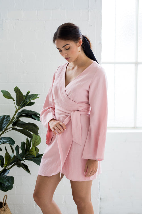 bella robe dusty rose
