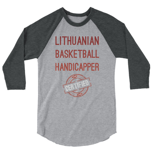 VSiN-Certified Lithuanian Basketball Handicapper 3/4 sleeve raglan shirt