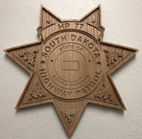 Hardwood Badge Plaque