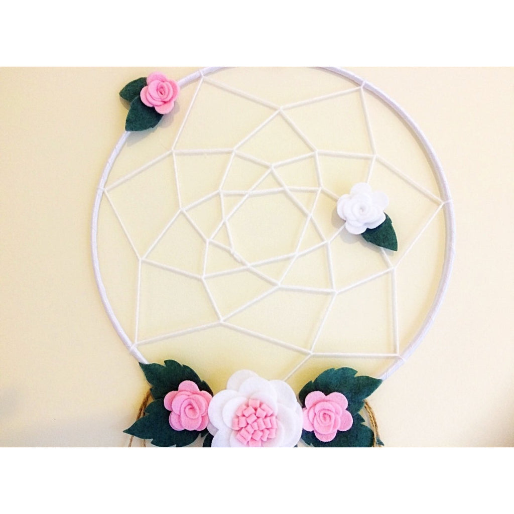 Dream Catcher - Pink and white