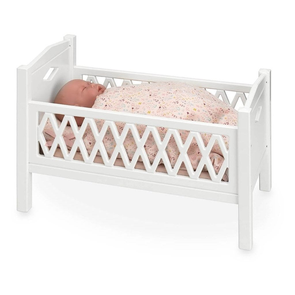 Harlequin doll's bed - white