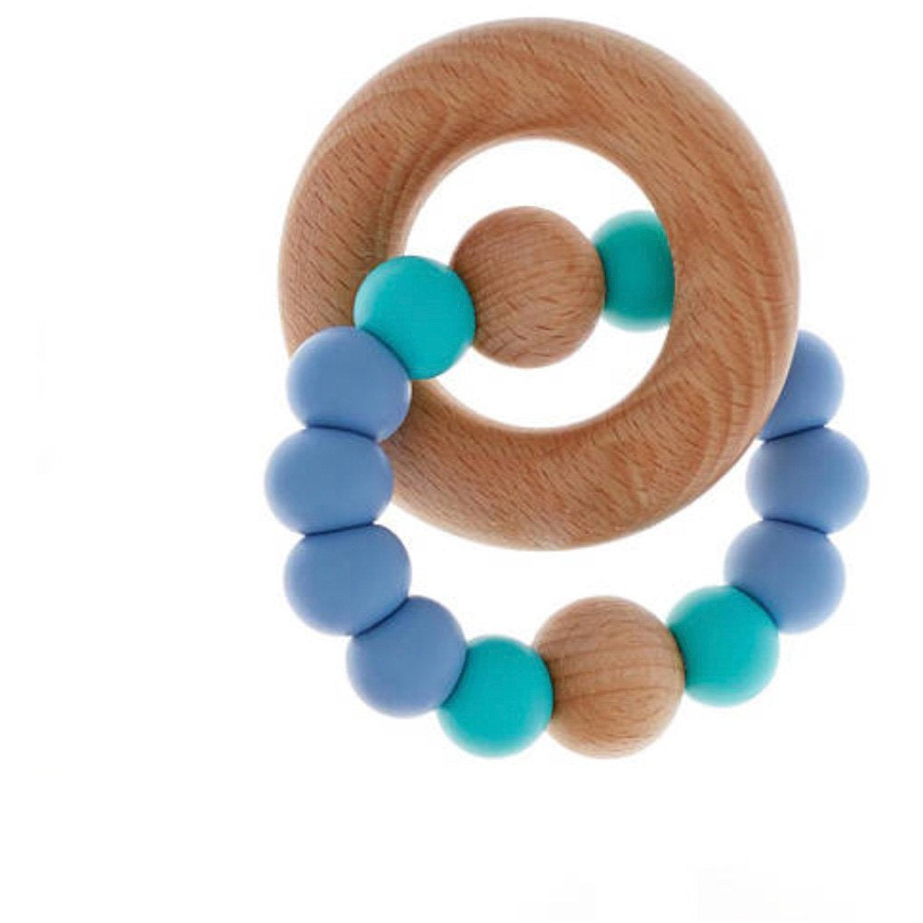 powder blue teether single ring