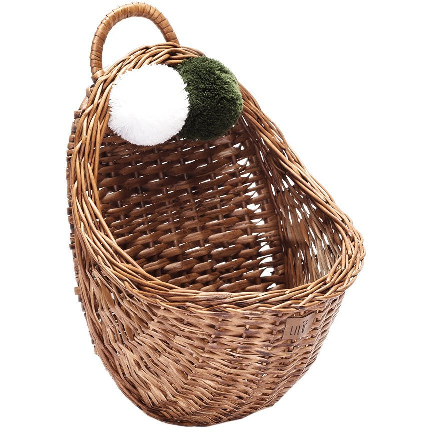 Wicker wall basket - Natural