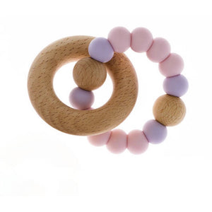baby pink teether single ring