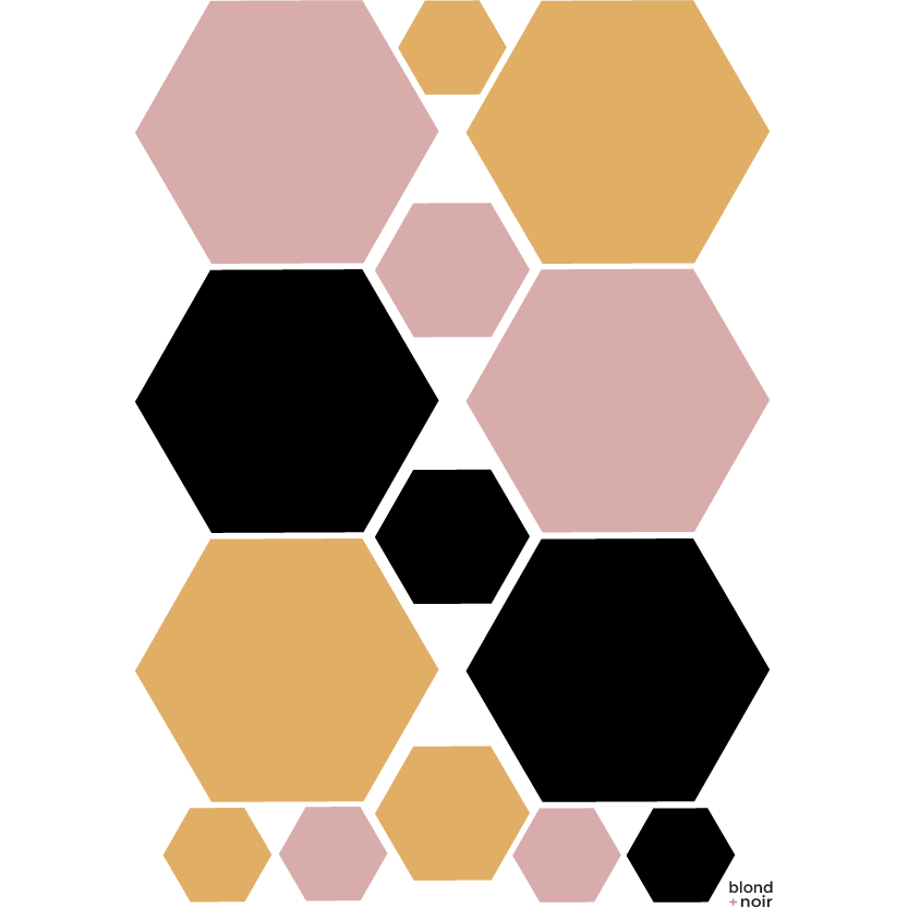 Multi Hexagons - wall decals