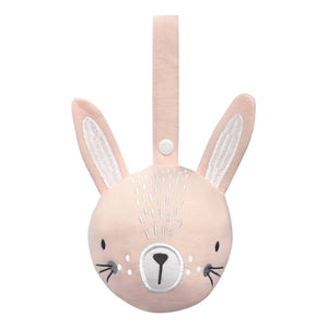 Pram rattle ball - Pink Bunny