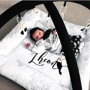 Activity playmat - black marble