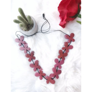 Wooden Chunky necklace - red